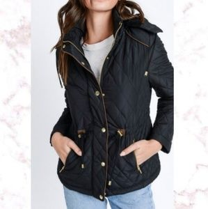 NWT Love Tree Quilted Fur Jacket
